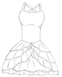 easy dresses sketch sketches simpl simple dress easy sketches of