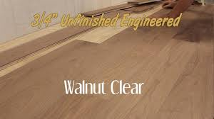 unfinished engineered walnut clear hardwood flooring 3 4 inch
