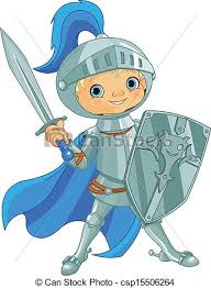 clip art vector fighting brave knight illustration
