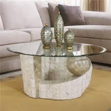 surprising brown round vintage glass and wood round coffee table