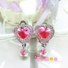 clip on earrings for kids aliexpress buy aomu 1 pair kids shiny rhinestone ear