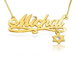 Gold Nameplate Necklaces 12 Best Gold Name Necklace Images On Pinterest Gold Name