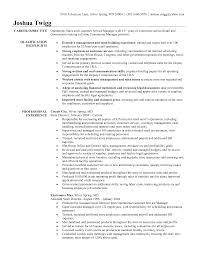 Resume For Management Position Resume Example For Manager Position Free Resume Example And