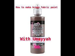 how to make brown fabric paint youtube