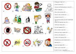 printable instructions classroom school rules worksheet free worksheet printables