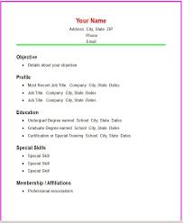 Simple Resume Example Simple Resume Template U2013 39 Free Samples Examples Formatsimple