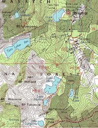 Ski Utah Map by Lake Mary Trail Map