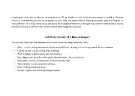 Housekeeper Resume Example by Resume Examples Housekeeping Hospital Templates