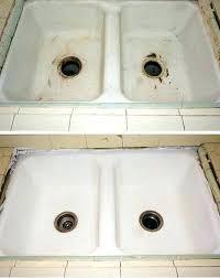 reglaze cast iron sink kitchen sink restoration sinks resurfaced kitchen sink resurfacing