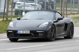 porsche night blue new porsche 718 boxster spyder spied auto express