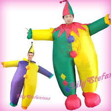 Body Halloween Costumes Chub Circus Clown Funny Suit Inflatable Clothing Blow