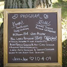 wedding program chalkboard chalkboard table numbers