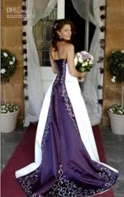 purple wedding dress discount luxury bridal hot sale white and purple wedding dresses