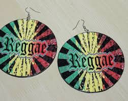 reggae earrings jamaica earrings etsy
