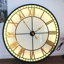 large wall clock very large wall clocks illuminated wall clock clocks wall clock