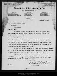 Dr Bade Letter From Richard B Watrous To William F Bade 1910 Nov 2