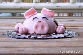 once upon a tier pig cake