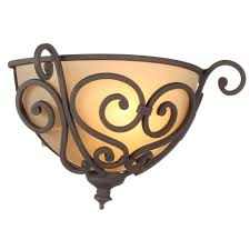 hampton bay 1 light aged iron half sconce fab8451a 3 the home depot