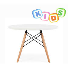 childrens charles ray eames style dowel round table white u2013 s