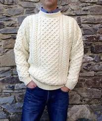 fisherman sweater mens cable aran fisherman sweater 100 wool