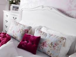 juliette antique white double bed with wooden headboard stunning