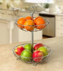 gift fruit baskets modern design hot sale metal wire fruit basket 2 tier stainless
