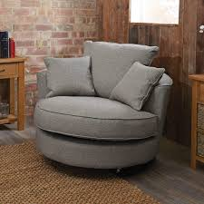 Round Swivel Chair Swivel Chairs Pictures Design With Half Round Shape And Grey