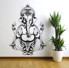 vinyl wall decal sticker art decor bedroom ganesh elephant