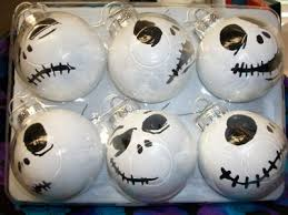 faces of skellington ornaments crafted by me