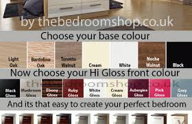 cream gloss and walnut bedroom furniture uv furniture