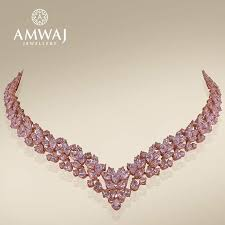 pink jewelry necklace images 108 best amwaj necklaces uae images uae bead jpg