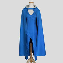 Daenerys Targaryen Costume Buy Game Of Thrones Daenerys Targaryen Blue Dress Cloak Halloween
