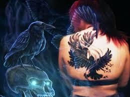 crow tattoo by deadcuteplushbunny on deviantart