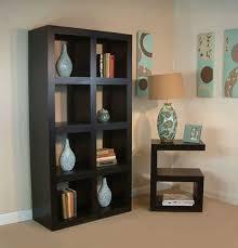 Contemporary Dark Wood Bookcase Design Large Storage Furniture - Dark wood furniture