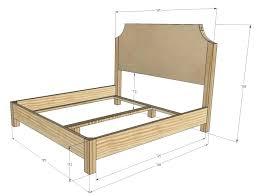 Width Of King Bed Frame King Size Bed Headboard Measurement Size Mattress Furniture