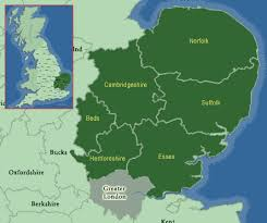 map of east uk east anglia map of uk maps