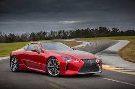 sporty lexus 4 door 2018 lexus lc 500 packs 471 hp goes on sale next may