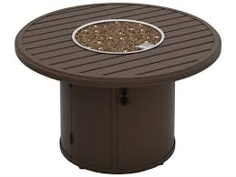 tropitone fire pit table reviews tropitone banchetto aluminum 42 round fire pit table 401442fp
