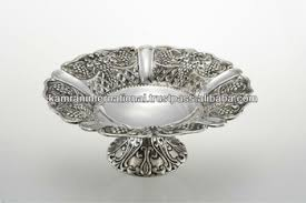 Large Silver Decorative Bowl Silver Antique Embossed Fruit Bowl Large Fruit Bowl Modern Metal