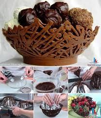 les astuces de cuisine corbeille en chocolat des astuces de cuisine sucrée