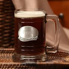 personalized pewter plate glass mug groomsman these heavy weight clear glass mugs can be