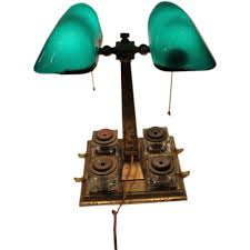 Traditional Bankers Desk Lamp Emeralite Partners Desk Lamp With 4 Inkwells Partners Desk Desk