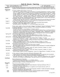 teaching resume examples example high school english teacher resume template effective math and computer teacher resume sample to help create