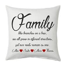 wedding quotes about family family quote personalised cushion cover wedding anniversary new