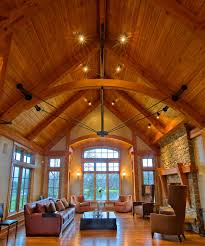 timber frame great room lighting timber frame great rooms new energy works