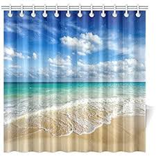 Sea Themed Shower Curtains Blue Shower Curtain Nautical Decor By Ambesonne Boat