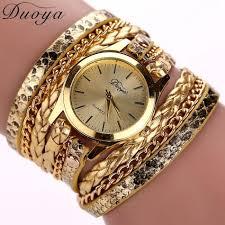 weave wrap bracelet images Women 39 s casual vintage multilayer wristwatch weave wrap rivet jpg