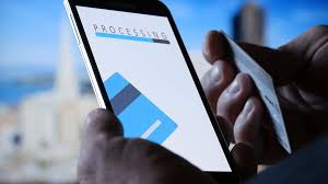 counter payment via mobile banking application on the smartphone