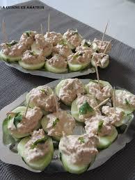 canap au thon la cuisine en de maryline canapés de concombre