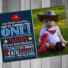 cowboy first birthday invitations vertabox com